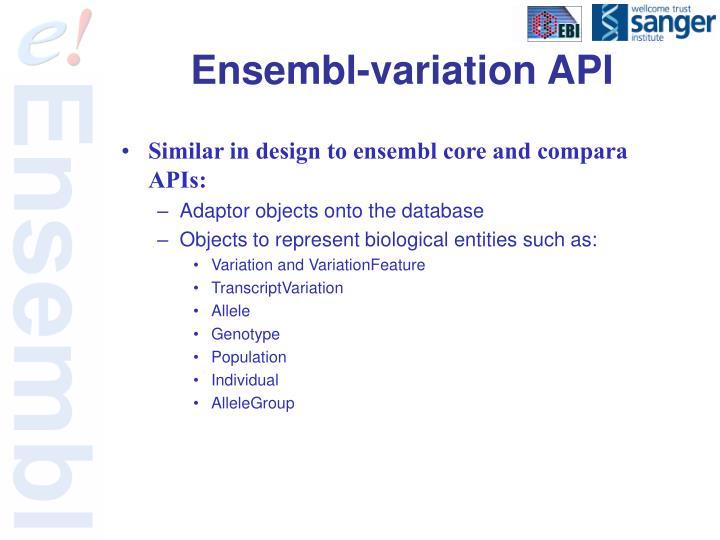 Ensembl-variation API