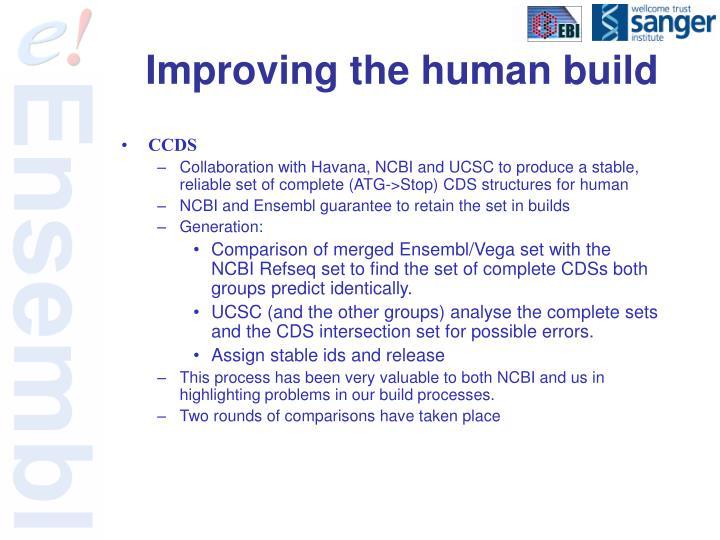 Improving the human build