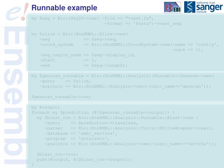 Runnable example