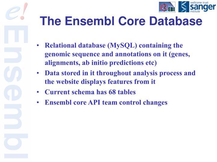 The Ensembl Core Database