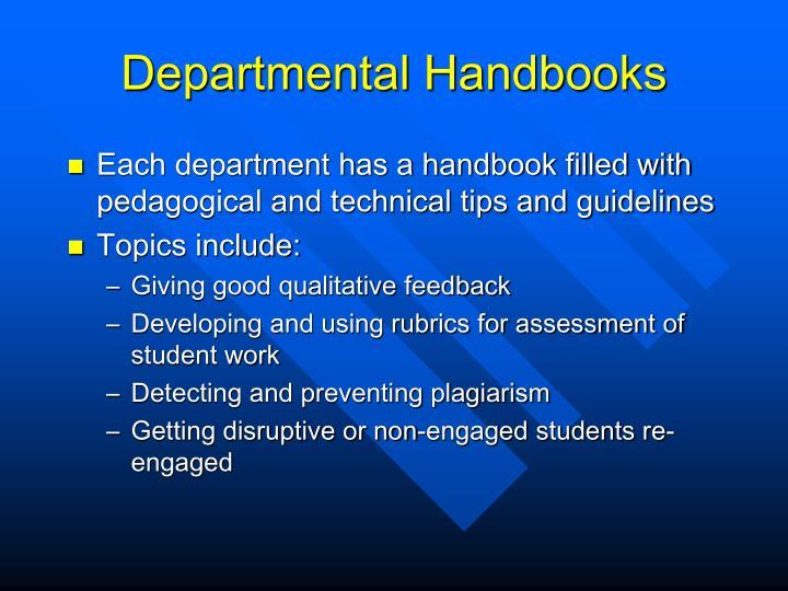 Departmental Handbooks