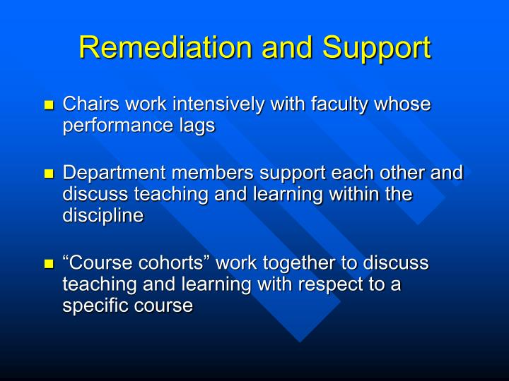 Remediation and Support