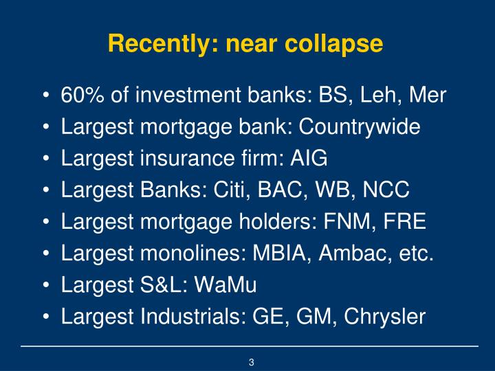 Recently: near collapse