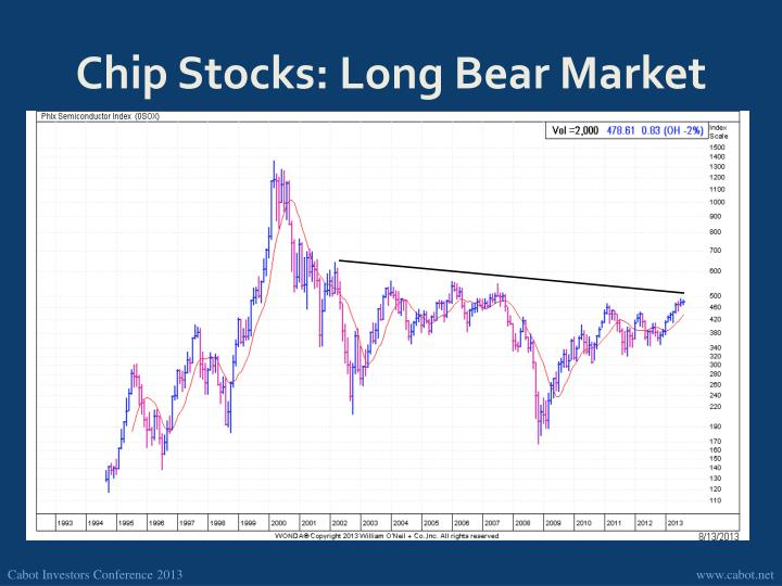 Chip Stocks: Long Bear Market
