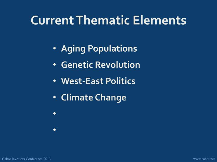 Current Thematic Elements
