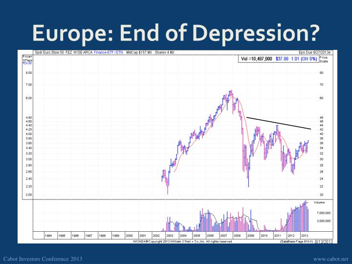 Europe: End of Depression?