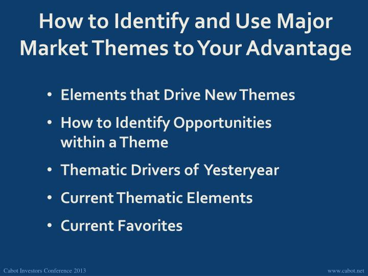 How to Identify and Use Major Market Themes to Your Advantage