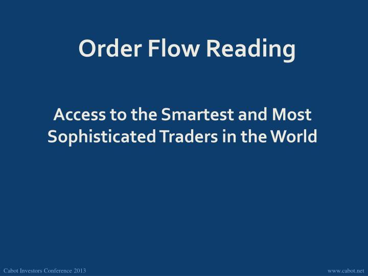 Order Flow Reading