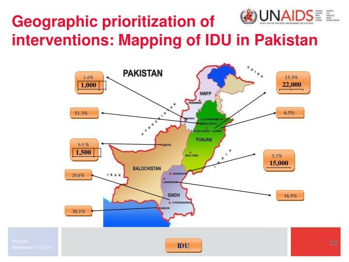 Geographic prioritization of