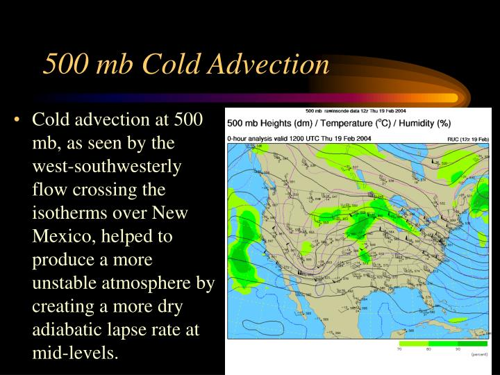 500 mb Cold Advection