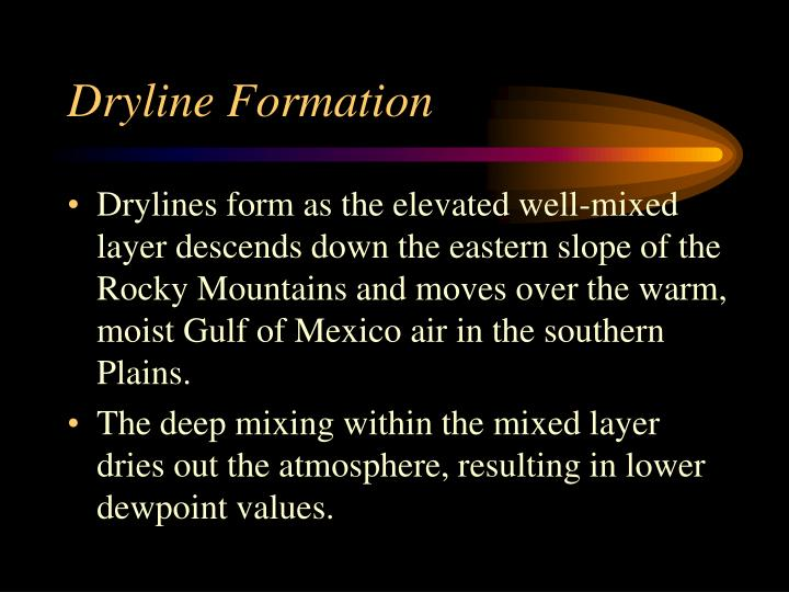 Dryline Formation