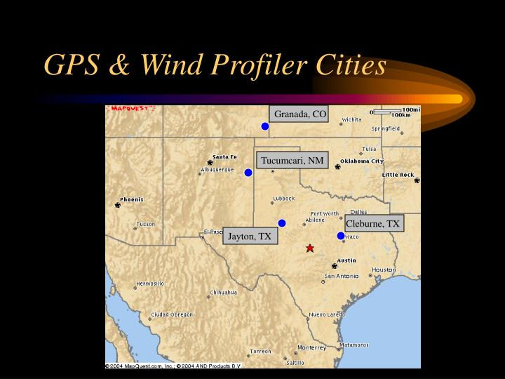 GPS & Wind Profiler Cities