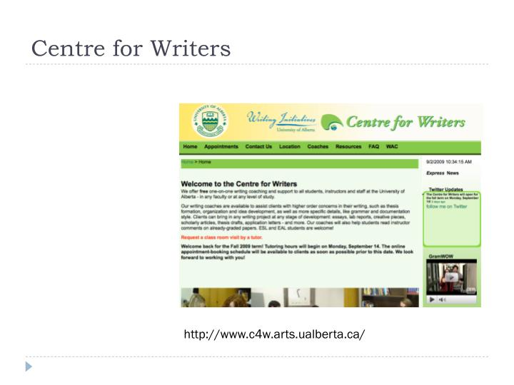 Centre for Writers