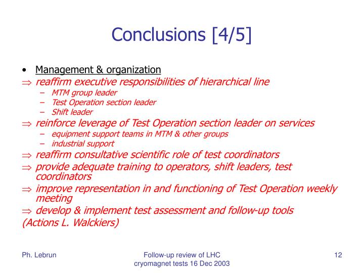 Conclusions [4/5]