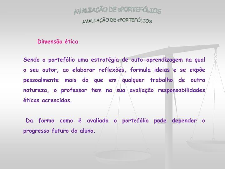AVALIAÇÃO DE ePORTEFÓLIOS