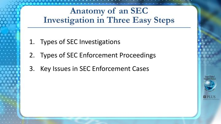 Anatomy of an SEC