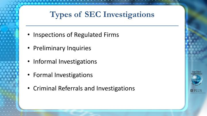 Types of SEC Investigations
