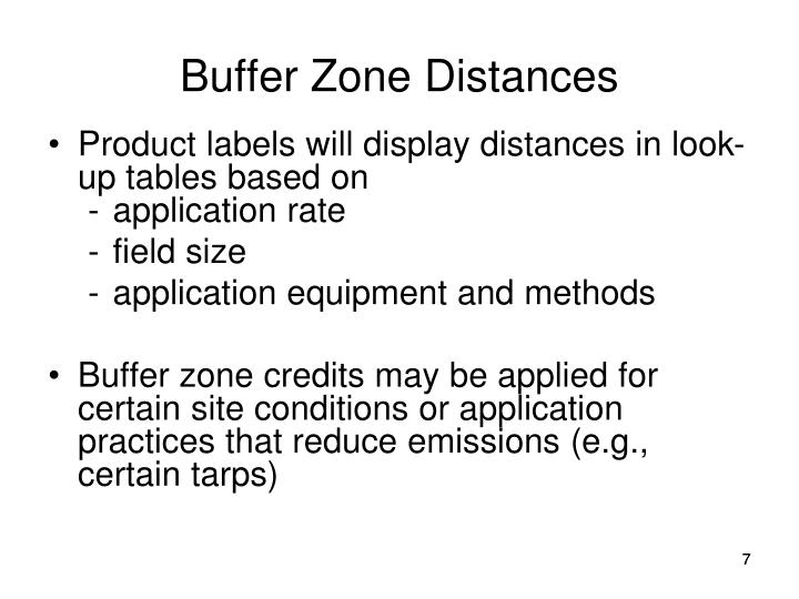 Buffer Zone Distances