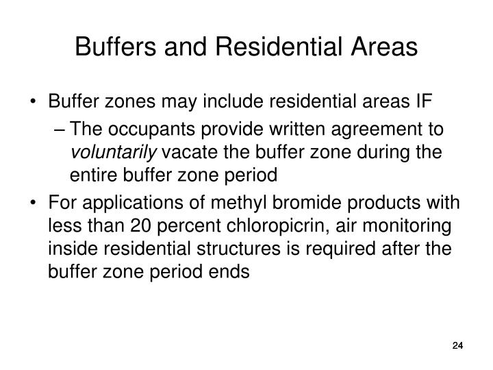 Buffers and Residential Areas