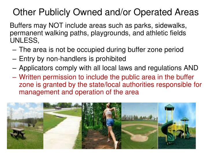 Other Publicly Owned and/or Operated Areas