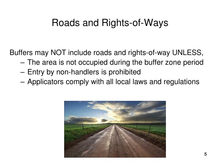 Roads and Rights-of-Ways