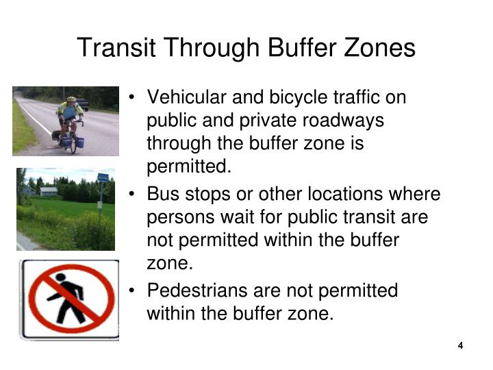 Transit Through Buffer Zones