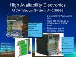 high availability electronics