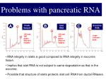 problems with pancreatic rna1