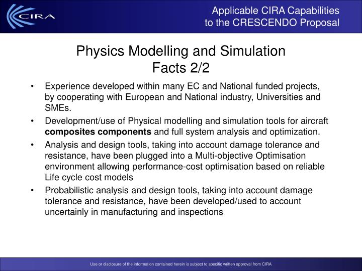 Applicable CIRA Capabilities