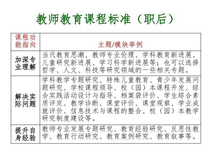 教师教育课程标准(职后)