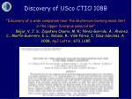 discovery of usco ctio 108b