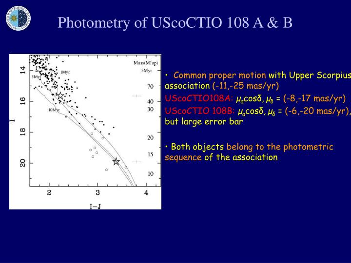 Photometry of UScoCTIO 108 A & B