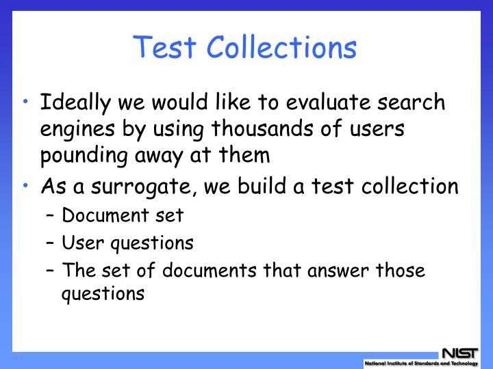 Test Collections