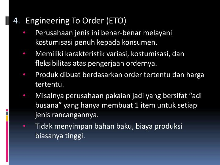 Engineering To Order (ETO)