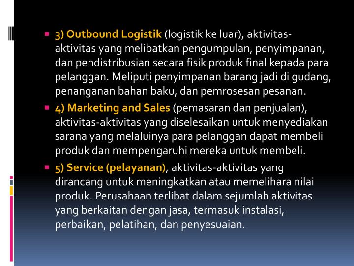 3) Outbound Logistik