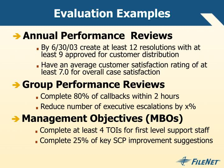 Evaluation Examples