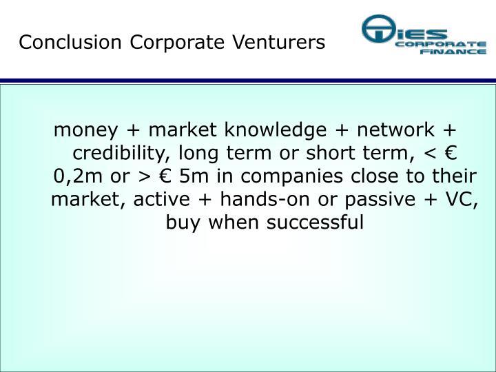 Conclusion Corporate Venturers