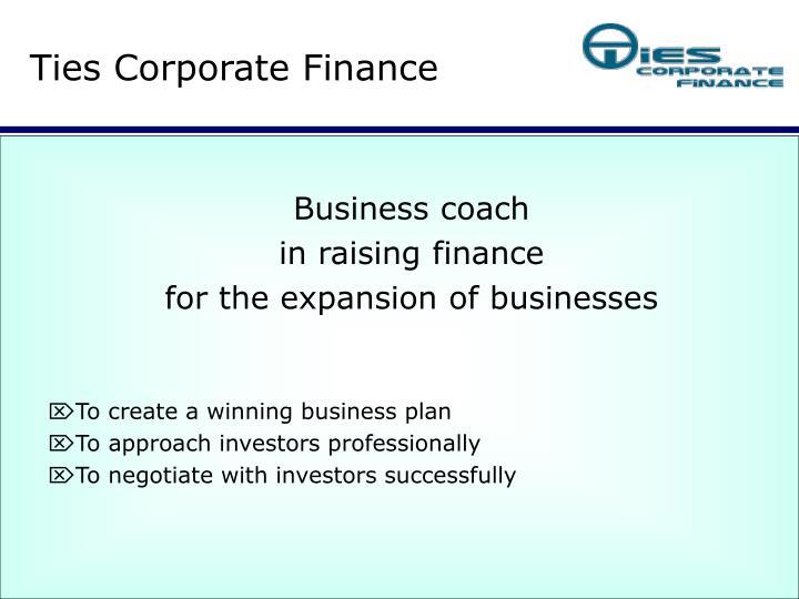 Ties Corporate Finance