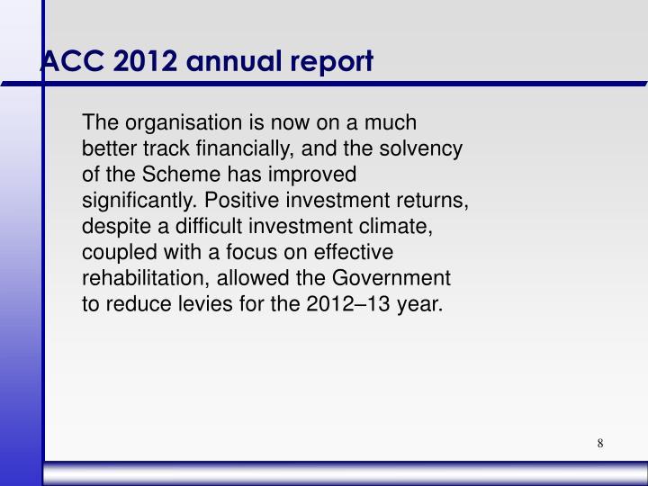 ACC 2012 annual report