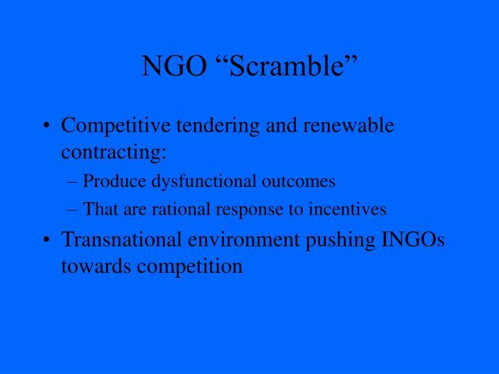 "NGO ""Scramble"""
