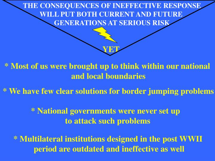THE CONSEQUENCES OF INEFFECTIVE RESPONSE