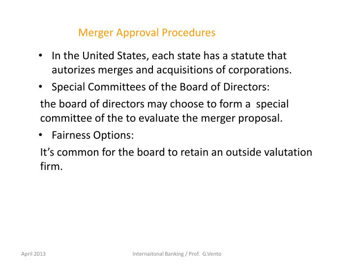 Merger Approval Procedures