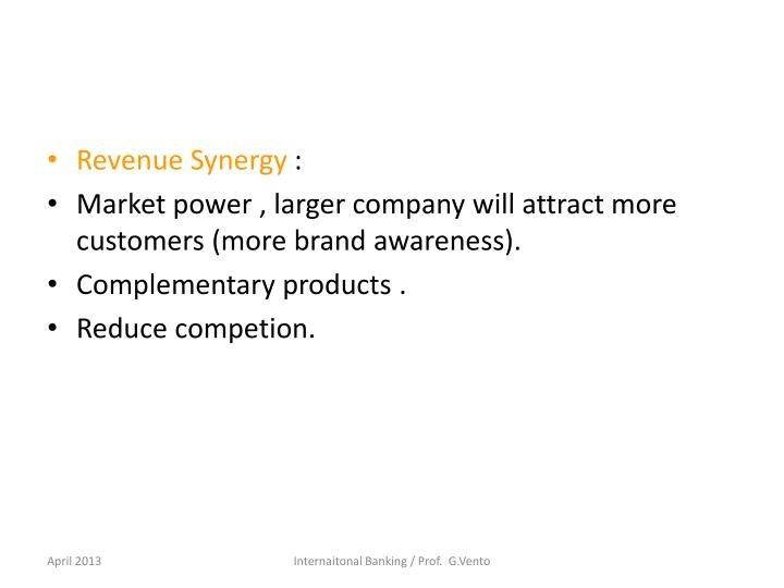 Revenue Synergy