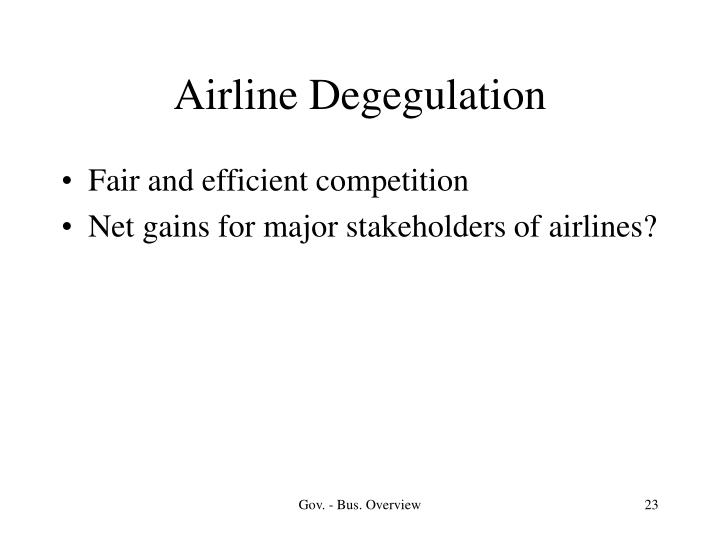 Airline Degegulation