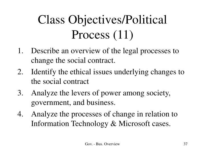 Class Objectives/Political Process (11)