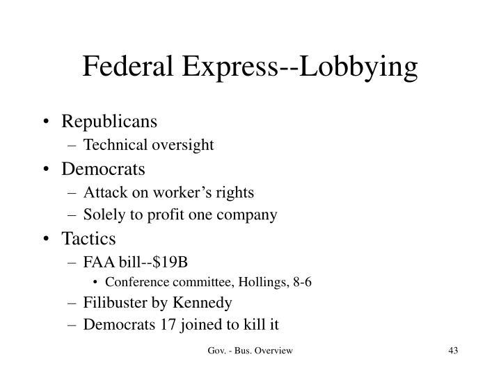Federal Express--Lobbying