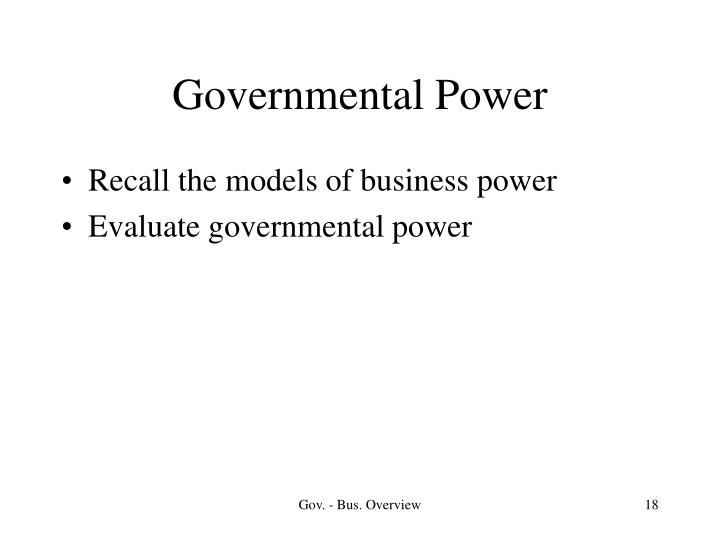 Governmental Power