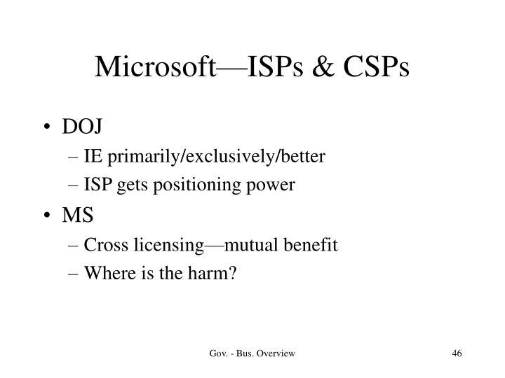 Microsoft—ISPs & CSPs