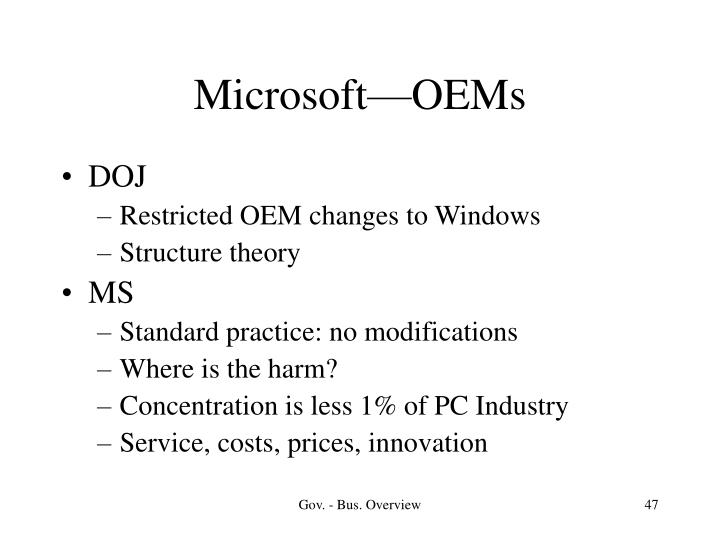 Microsoft—OEMs