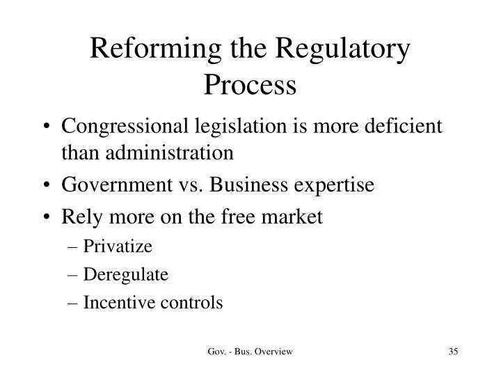 Reforming the Regulatory Process